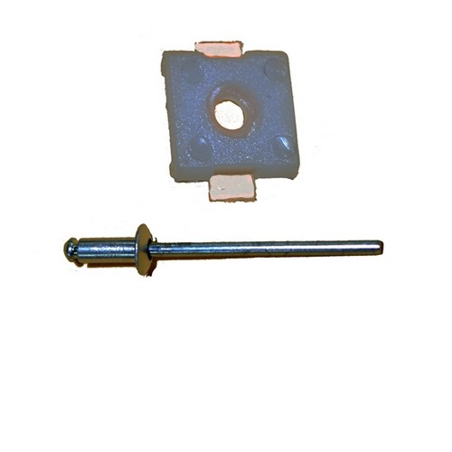 67-72 FORD TRUCK REAR CAB MOLDING CLIP WITH RIVET