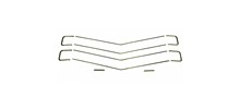 70 CHEVELLE / EL CAMINO GRILLE MOLDING KIT, 10 PIECES