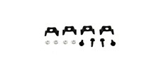 68-74 X-BODY CONSOLE FORWARD PLATE AND GAUGE MOUNTING BRACKET SET, (12 PIECES)